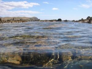 Sea and rocks, Plimmerton, New Zealand