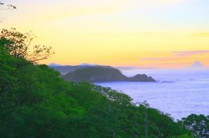 Sunrise over the coast in Huatulco, Oaxaca, Mexico